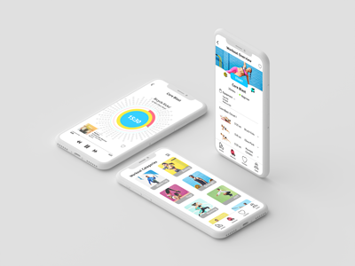 Fitness App Concept mobile app ios colorful fitness ux ui