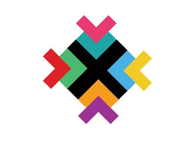 Latinxs Who Design Logo Concept colorful x x logo logo design logo