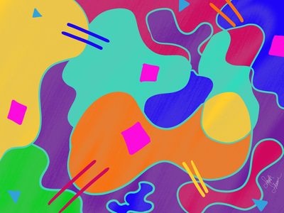 Abstract Doodling bright shapes doodles abstract colorful