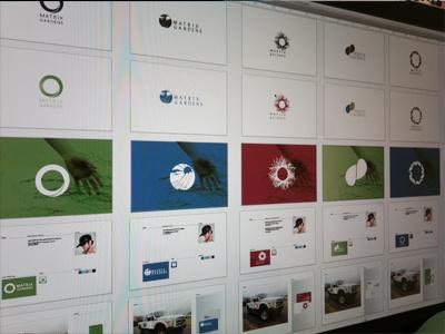 Matrix logo design brand development