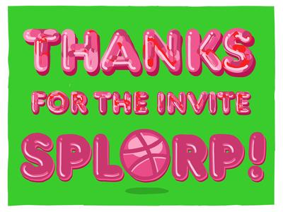 Thanks for the invite, Splorp!