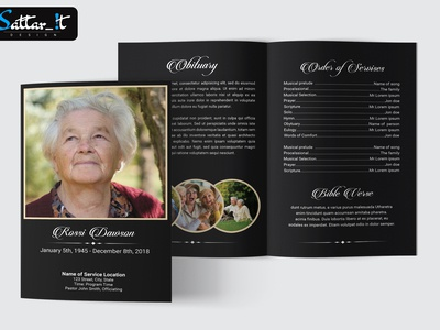 Funeral Card And Obituary