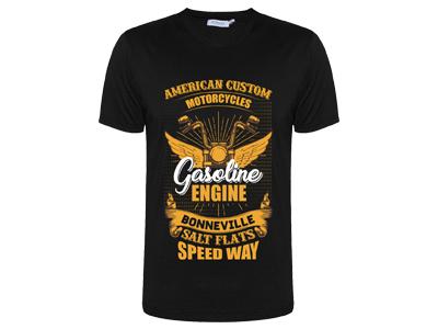 American Custom Motorcycle T-Shirt Design