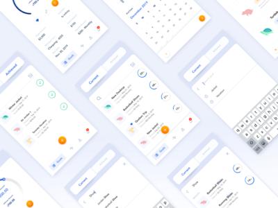 Financial Goals Management App Screens