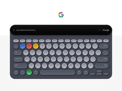 Google Board Concept ux ui slate black keyboard google product design clean flat minimal typography branding vector design