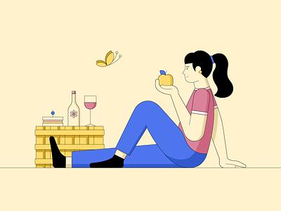 solo picnic primarycolors 2dart graphicdesign picnic illustrator illustration