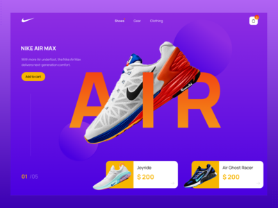 Nike Homepage Concept