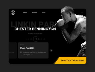 Concept Design for Linkin Park Website