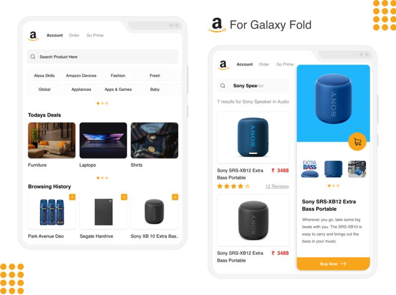 Amazon App for Galaxy Fold