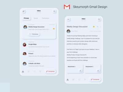 Skeuomorph Gmail Design