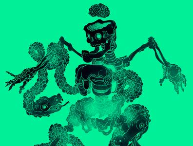 Candy Skeleton Teal