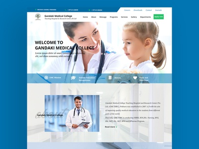 Reimagining 'Gandaki Medical College Website'