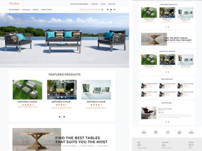 E-commerce website for furniture shop