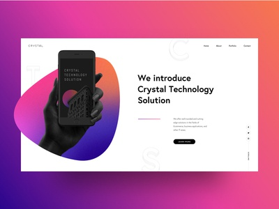 Crystal Techs Landing Page Design