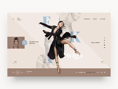 FKA Twigs Landing Page music fka twigs web ui minimal website design interface ui design web design landing page