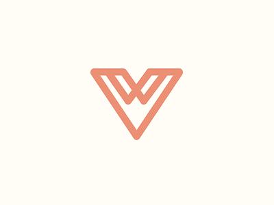 Vandervie Logo travel colorado mountains v logo mark