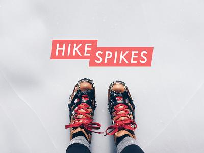 Hike Spikes Logo adventure winter logo