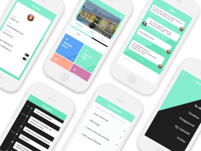 Mortgage Application Prototype mobile loan prototype iphone