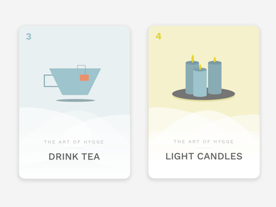 How to Hygge 02 illustrations candles tea winter hygge