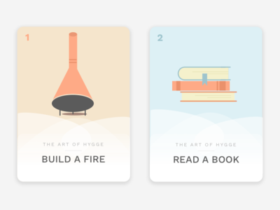 How to Hygge 01 books fire hygge illustrations