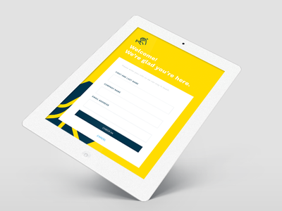 Check-in App tablet ipad app design product ux ui checkin form