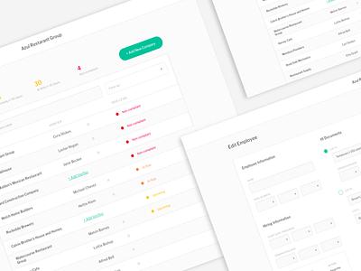 Employment authorization app desktop app web form table