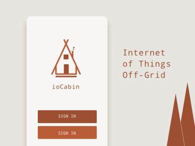 ioCabin off-grid app cabin iot