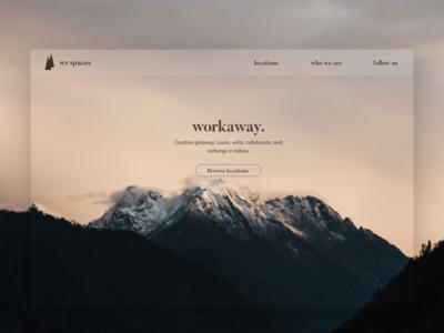 Workaway branding ui cabins nature creative workway site marketing inspiration