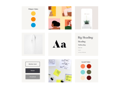 October moodboard colorpalette typography branding ux styleguide moodboard