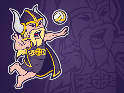 Vicbeach Vikings - Male Mascot australia sports illustration viking mascot design custom volleyball athletic