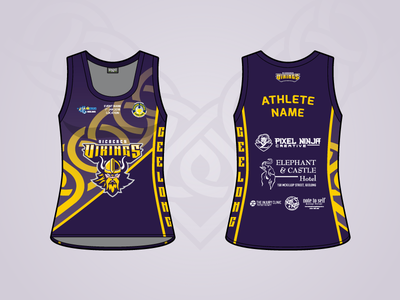 Vicbeach Vikings - Rebound Vic - Singlet viking volleyball sport jersey singlet uniform