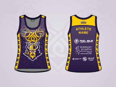 Vicbeach Vikings - NT Title - Singlet viking volleyball sport jersey singlet uniform