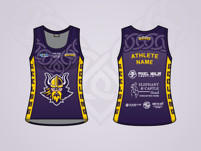 Vicbeach Vikings - AIBVC Sixes - Singlet apparel viking volleyball sport jersey singlet uniform