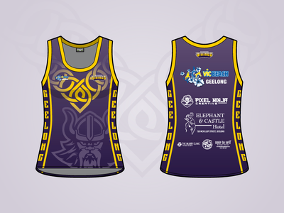 Vicbeach Vikings - Merchandise Singlet apparel viking volleyball sport jersey singlet uniform