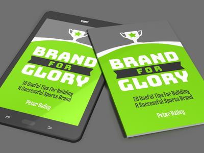 Brand For Glory - Promo Renders cover design book design art cover photoshop 3d book sport athletic