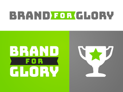 Brand For Glory - Logos logo design book branding grey green book sport athletic