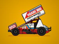 410 Sprintcar Retro Livery - Ian Lewis