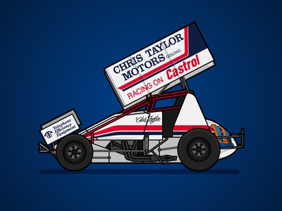 410 Sprintcar Retro Livery - Chris Taylor sports sprintcar poster livery racing motorsport illustration australia