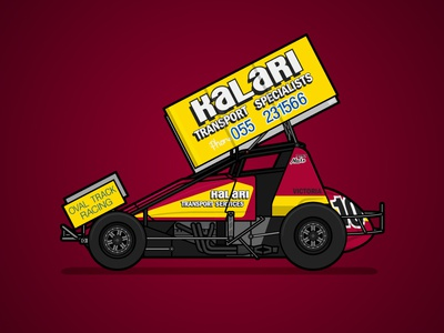 410 Sprintcar Retro Livery - Tony Noske sports sprintcar poster livery racing motorsport illustration australia
