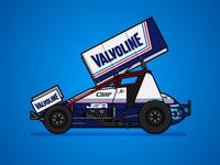 410 Sprintcar Retro Livery - Max Dumesny