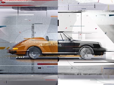 porsche illustration 02 porsche illustration design graphic car auto