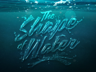 The shape of water water of shape the lettering typo type typography graphic