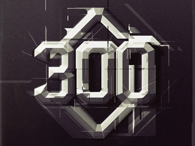 300 typo type typography design graphic lettering 300