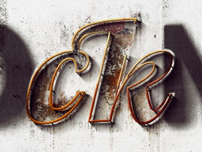 rock'N'roll ligature lettering graphic typo typography type ligature
