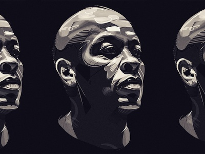 dr dr photoshop drawing drdre wacom portrait illustration graphic design