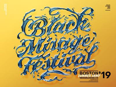 black mirage festival 19 festival lettering illustration graphic typography typo type design