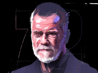 Arnold Schwarzenegger schwarzenegger arnold design graphic illustration wacom drawing draw portrait