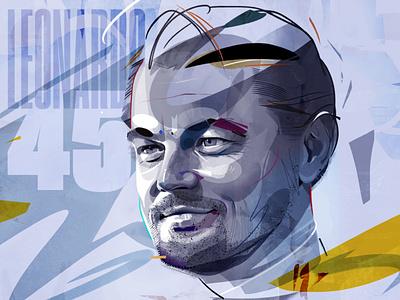 leo poster wacom drawing illustration graphic type design portrait