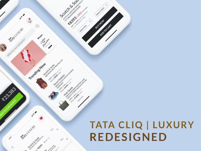 Tata Cliq | Luxury Redesigned, UI/UX