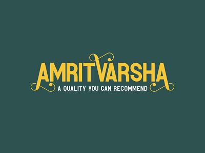 AmritVarsha | Logo Design clarified butter dairy dairy product identity logoidentity monogram lettermark typography logo symbols brand identity logo design wordmark logotype india indian branding ghee logo